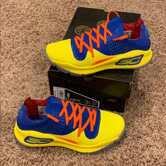 new style 90813 efe9c Brand New Limited Edition Curry 4 Low NBA JAM NWT